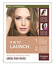 Face of a beautiful model Poster Template