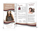 Smiling girl Brochure Templates