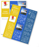 A beach ball isolated against a white background Newsletter Templates