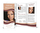 Beautiful model posing Brochure Template