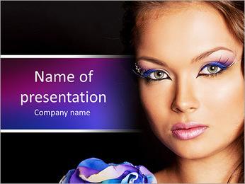 Beautiful model posing PowerPoint Template