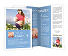 Pregnant woman standing in a field Brochure Templates
