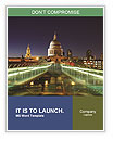 St. Paul's Cathedral and the Millennium Bridge in London Word Templates