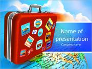 Travel bag PowerPoint Templates