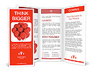 A bunch of red balloons Brochure Templates