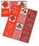 A bunch of red balloons Newsletter Templates