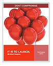 A bunch of red balloons Word Templates