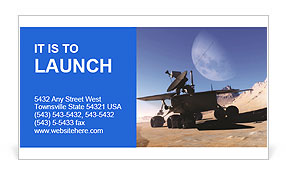 Space car of the future Business Card Template