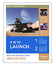 Space car of the future Poster Template