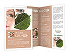 Woman dyed organic cosmetics Brochure Template