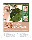 Woman dyed organic cosmetics Flyer Template