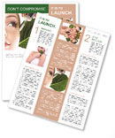 Woman dyed organic cosmetics Newsletter Template