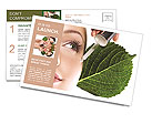 Woman dyed organic cosmetics Postcard Template