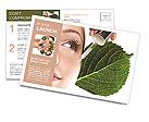 Woman dyed organic cosmetics Postcard Templates