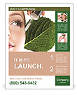 Woman dyed organic cosmetics Poster Template