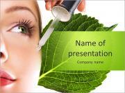 Cosméticos orgânicos Mulher tingidos Modelos de apresentações PowerPoint