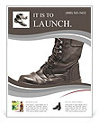 Black Army boots Flyer Template