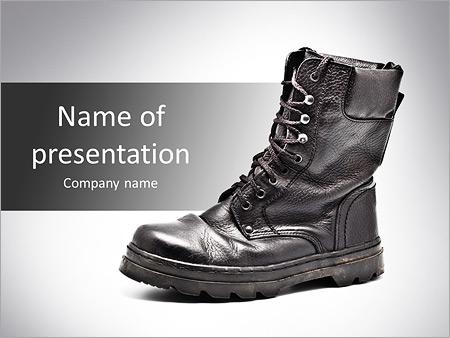 Defense powerpoint template smiletemplates black army boots powerpoint templates toneelgroepblik Choice Image