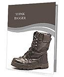 Black Army boots Presentation Folder