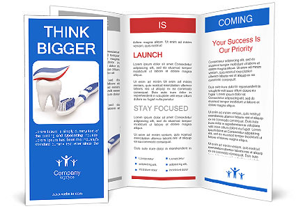 toothpaste toothbrush and tooth brochure template
