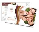 Natural cosmetics Postcard Template