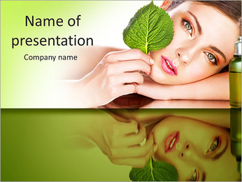 Natural cosmetics PowerPoint Template