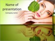 自然化粧品 PowerPointプレゼンテーションのテンプレート