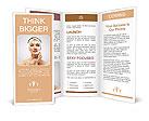 A model presents a face cream Brochure Templates
