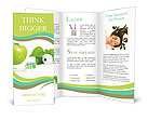 All for healthy teeth apple toothpaste and brush Brochure Templates