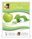 All for healthy teeth apple toothpaste and brush Flyer Template