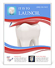 Toothpaste on tooth Flyer Template