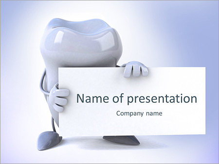 Dental powerpoint templates backgrounds google slides themes tooth holds the title of the presentation powerpoint template toneelgroepblik Gallery