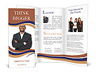 Black guy in a suit Brochure Templates