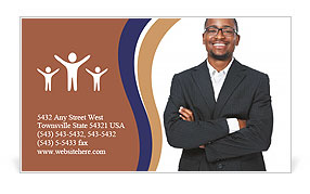 Black guy in a suit Business Card Template