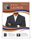 Black guy in a suit Flyer Template