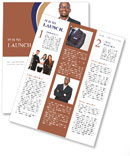 Black guy in a suit Newsletter Template