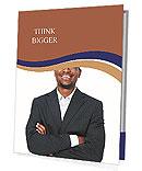 Black guy in a suit Presentation Folder