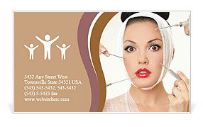 Plastic surgery is a concept Business Card Templates
