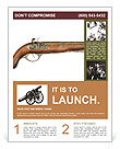 Vintage gun powder Flyer Template