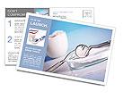 Dentist tools Postcard Template