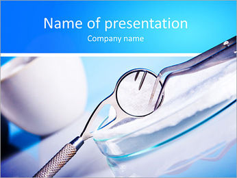 Dentist tools PowerPoint Template