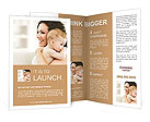 Happy mother holding her baby in her arms Brochure Templates