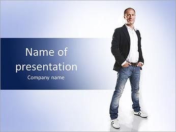 Modern man posing PowerPoint Template