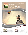 Man and balloon Flyer Template