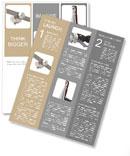 Silver inscription 3D Newsletter Template