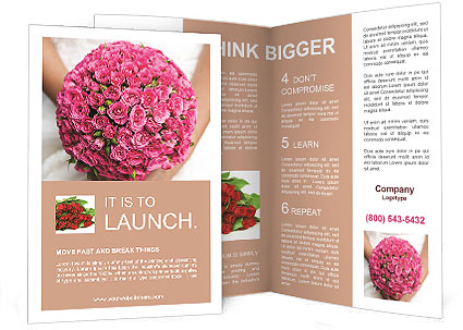 Wedding Bouquet Brochure Template & Design Id 0000010939