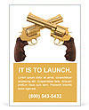 Two golden revolver Ad Templates