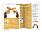 Two golden revolver Brochure Templates