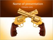 Two golden revolver PowerPoint Templates