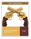 Two golden revolver Word Templates